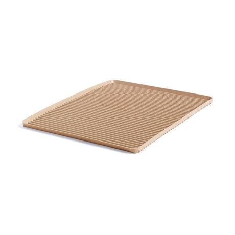 HAY Tray Dish Drainer in plastica marrone chiaro 42x32,5x1,5cm