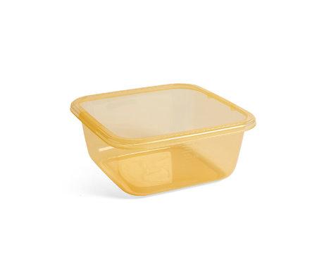 HAY Lavastoviglie in plastica gialla 32x32x14cm