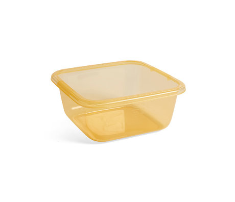 HAY Lave-vaisselle en plastique jaune 32x32x14cm