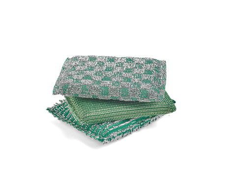 HAY Sponge Glitter green foam set of 3 13.5x9.5cm