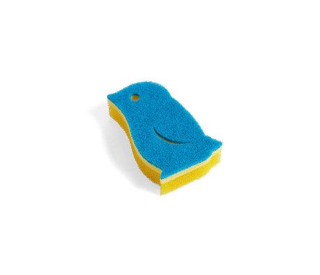 HAY Sponge Penguin yellow foam 11.5x7.5x3cm