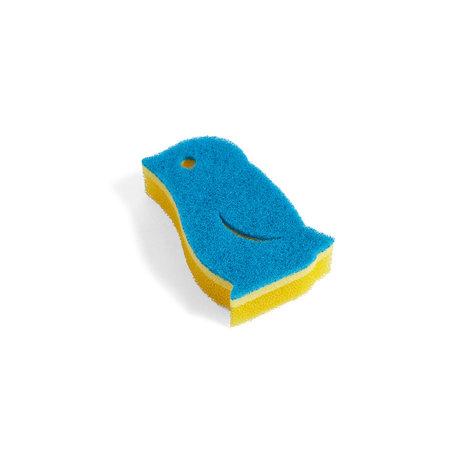 HAY Éponge Pingouin mousse jaune 11,5x7,5x3cm
