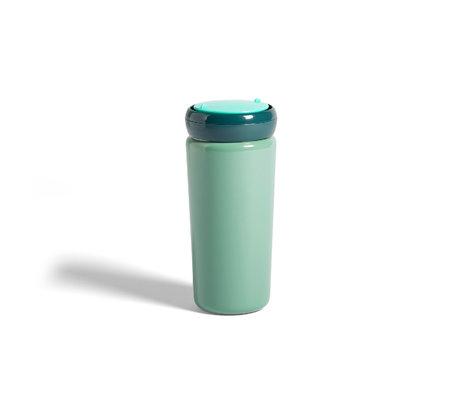 HAY Tasse de voyage thermos 0,35L acier inoxydable vert menthe Ø8x18cm