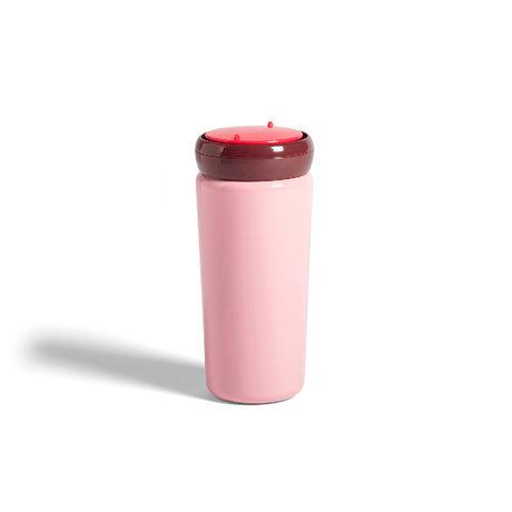 HAY Tazza termica da viaggio 0,35L acciaio inossidabile rosa Ø8x18cm