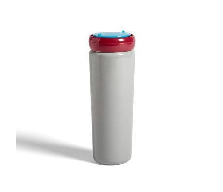 HAY Tazza termica da viaggio 0,5L in acciaio inossidabile grigio Ø8x22cm