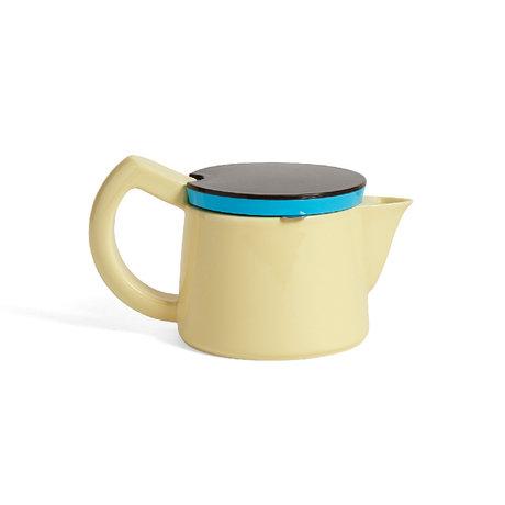 HAY Kaffeekanne Kaffee S 0,45 l hellgelbes Porzellan 19,5 x 11,5 x 11 cm