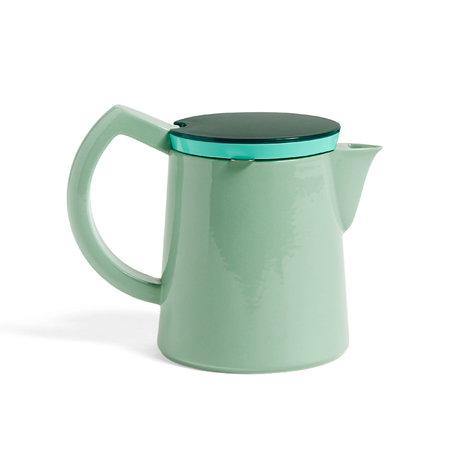 HAY Cafetière Coffee M 0.8L porcelaine vert menthe 20x12.5x16cm