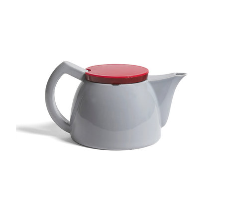 HAY Tetera Té 1L porcelana gris 23,5x15x13cm