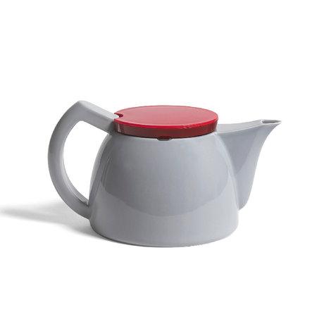 HAY Théière à thé en porcelaine grise 1L 23,5x15x13cm