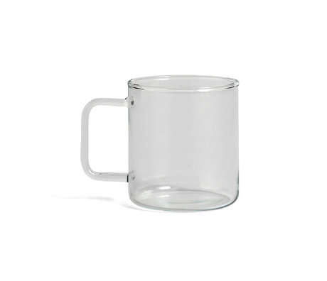 HAY Becher Glas Kaffee 400ml transparentes Glas Ø8x9cm