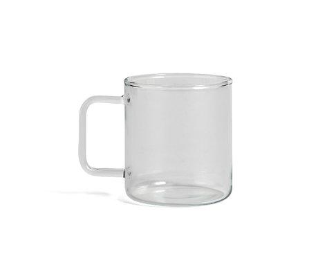 HAY Taza Vaso Café 400ml vaso transparente Ø8x9cm