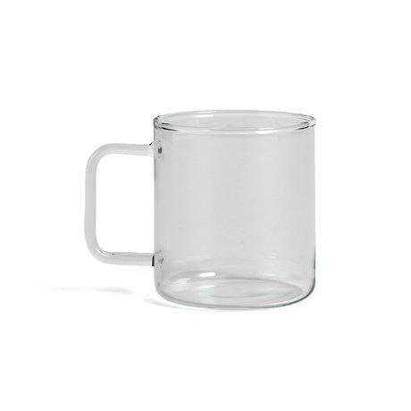 HAY Mug Glass Coffee 400ml transparent glass Ø8x9cm