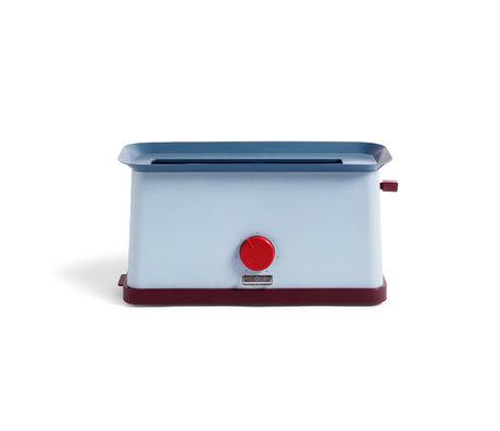 HAY Grille-pain Sowden bleu acier inoxydable 37,5x15x19,5cm