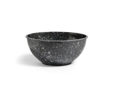 HAY Ciotola Fleck in plastica grigio scuro Ø30x13cm
