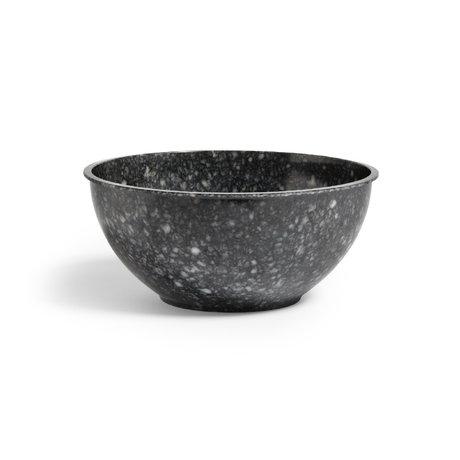 HAY Cuenco Fleck plástico gris oscuro Ø30x13cm