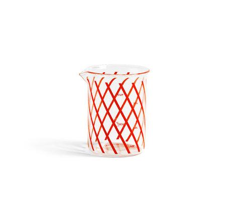 HAY Tasse doseuse Measure S verre rouge Ø7x9,5cm