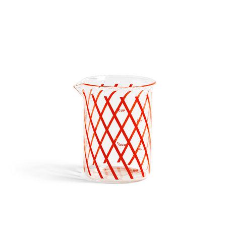 HAY Messbecher Maß S rotes Glas Ø7x9.5cm