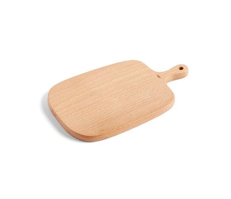 HAY Cutting board Rectangular S brown wood 27x16cm