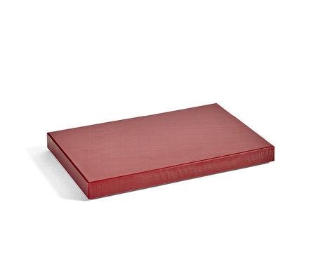 HAY Planche à découper Rectangulaire M plastique rouge bordeaux 30x20x2,5cm