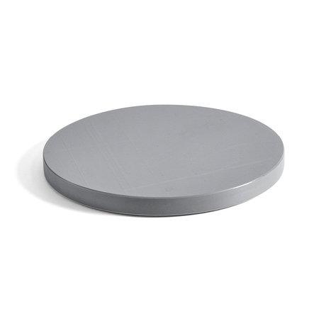 HAY Planche à découper ronde L plastique gris Ø34x2,5cm