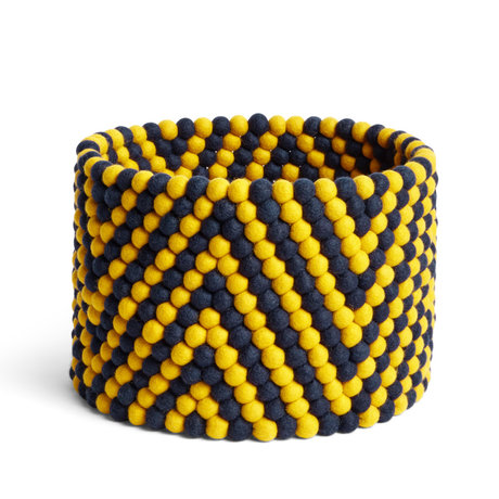 HAY Cestino portaoggetti Bead Basket giallo lana Ø40x30cm