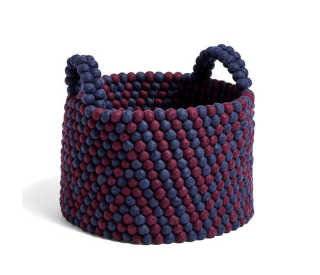HAY Storage basket Bead Basket dark blue wool Ø40x30cm