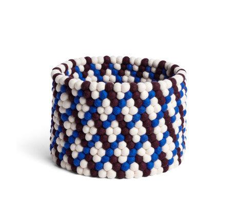 HAY Storage basket Bead Basket brown wool Ø40x27cm