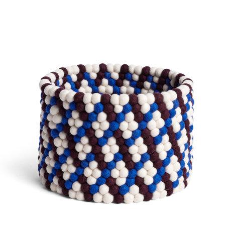 HAY Panier de rangement Bead Basket en laine marron Ø40x27cm
