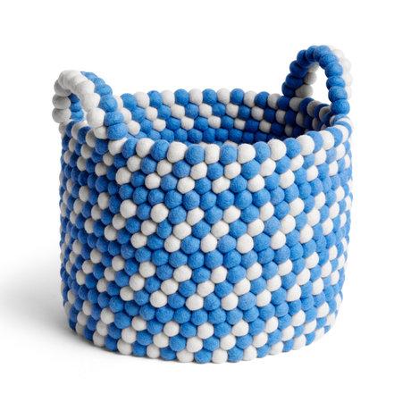 HAY Cestino portaoggetti Bead Basket lana blu Ø40x32cm