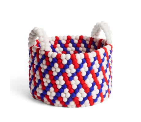 HAY Cestino portaoggetti Bead Basket rosso lana Ø40x27cm