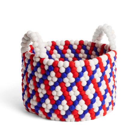 HAY Storage basket Bead Basket red wool Ø40x27cm