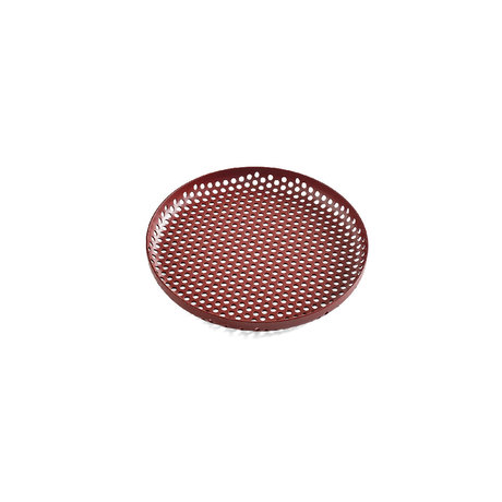 HAY Tray Perforated Tray S burgundy red aluminum Ø20x2cm
