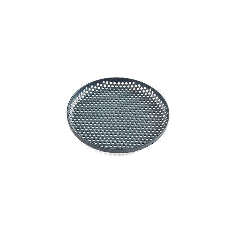 HAY Fach Perforiertes Fach S dunkelgrünes Aluminium Ø20x2cm