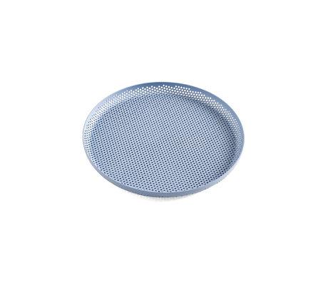 HAY Vassoio Tray Tray M in alluminio azzurro Ø26,5x2cm