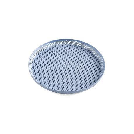 HAY Tray Perforated Tray M light blue aluminum Ø26.5x2cm