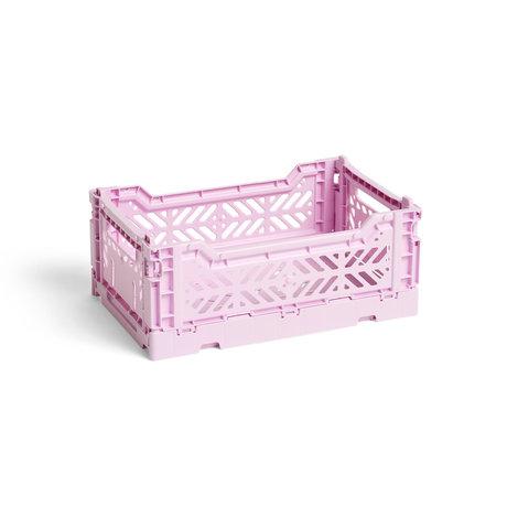 HAY Crate Color Crate S lilla plastica 26,5x17x10,5cm