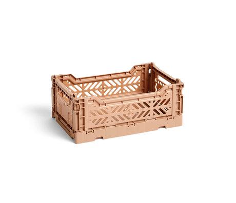 HAY Crate Color Crate S plástico marrón 26,5x17x10,5cm