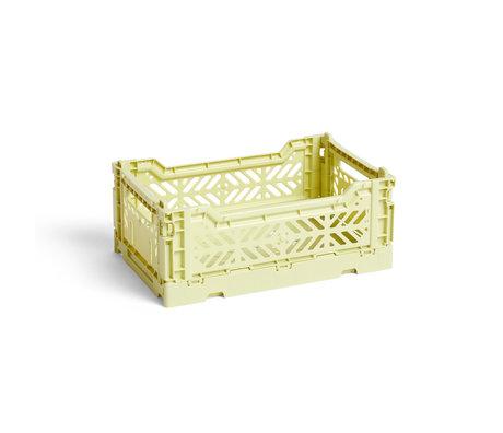 HAY Crate Color Crate S plástico verde claro 26,5x17x10,5cm
