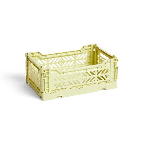 HAY Crate Color Crate S plastica verde chiaro 26,5x17x10,5cm