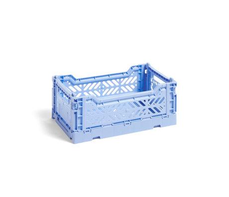 HAY Crate Color Crate S de plástico azul claro 26,5x17x10,5cm