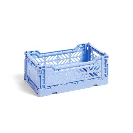 HAY Crate Color Crate S in plastica blu chiaro 26,5x17x10,5cm