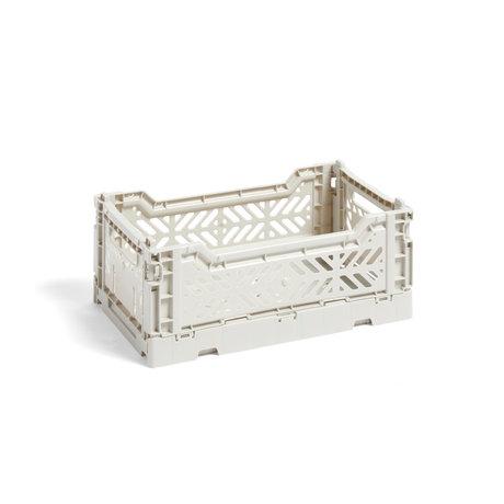 HAY Kistenfarbe Kiste S hellgrauer Kunststoff 26,5 x 17 x 10,5 cm