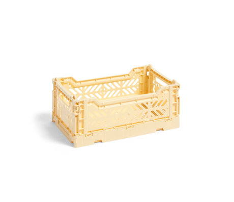 HAY Crate Color Crate S light yellow plastic 26.5x17x10.5cm