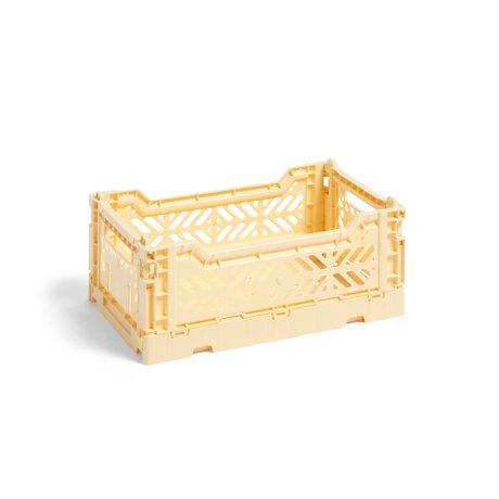 HAY Crate Color Crate S plastica giallo chiaro 26,5x17x10,5cm