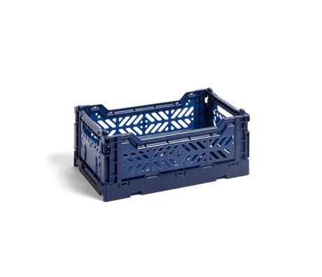 HAY Crate Color Crate S plastique bleu foncé 26,5x17x10,5cm