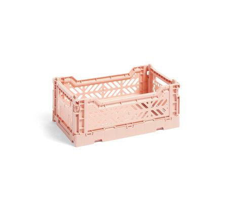 HAY Crate Color Crate S plástico rosa claro 26,5x17x10,5cm