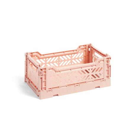 HAY Crate Color Crate S in plastica rosa chiaro 26,5x17x10,5cm
