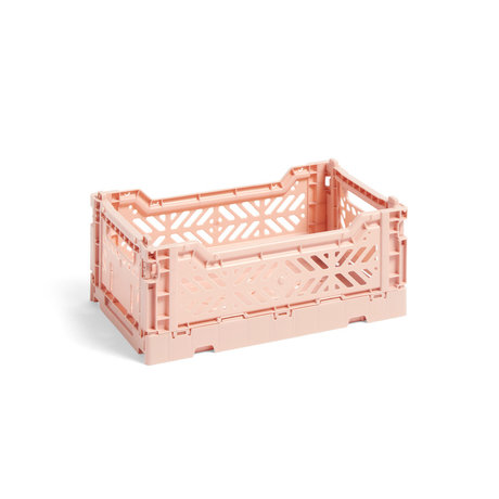 HAY Crate Color Crate S light pink plastic 26.5x17x10.5cm