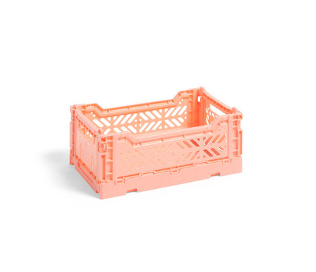 HAY Crate Color Crate S pink plastic 26.5x17x10.5cm