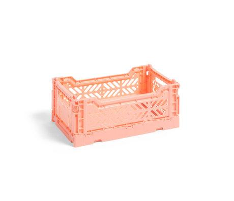 HAY Crate Color Crate S plastique rose 26,5x17x10,5cm